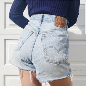 Levi's Cut-Off Denim Shorts